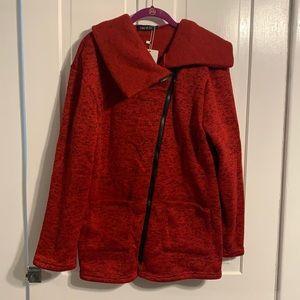 NWT Fee et Rit Asymmetrical Zip Sweater Jacket